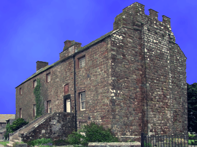 Drumburgh Castle. Built entirely from Roman stone taken from the fort