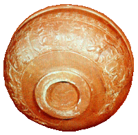 Samian Ware bowl with decoration