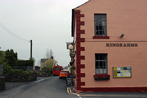Kings Arms Pub. Hadrian's Wall Path starting point at Bowness on Solway