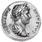 Coin depicting Hadrian found at Vindolanda